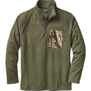 Legendary Whitetails Men's Marksman Quarter Zip Grid Fleece