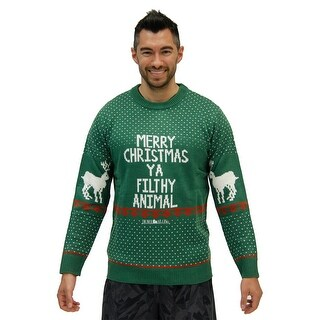 Home Alone Green Merry Christmas Ya Filthy Animal Sweater