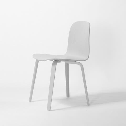 (Set of 2) ELSA Modern Wood Dining Side Chairs