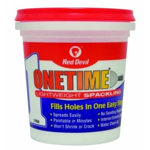 Red Devil 0548 Onetime Lightweight Spackling, Pre-Mixed Formula, 1 Pint