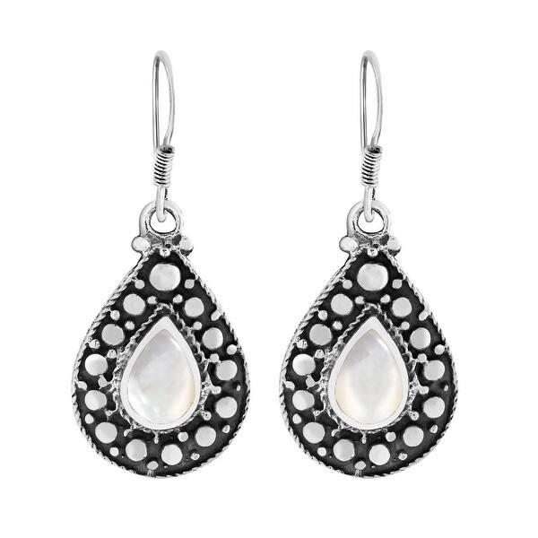Raw stone earrings Black Hematite earrings Tear Drop Sterling silver Earrings Lever back Natural stone earrings