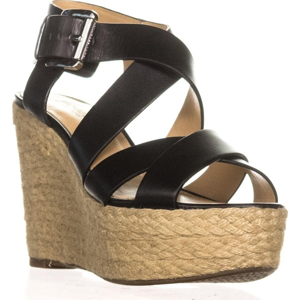 MICHAEL Michael Kors Celia Mid Wedge Espadrille Sandals, Black