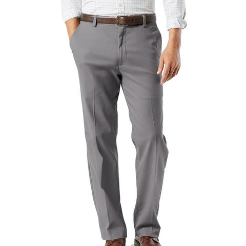Dockers Mens Pants Gray Size 38X32 Non-Wrinkle Khaki Classic Stretch