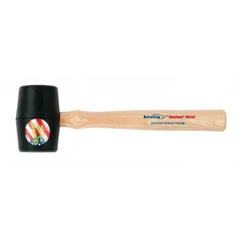 Estwing DH-12 Non-marring Bounce Resistant Rubber Deadhead Mallet, 12 Oz, Black