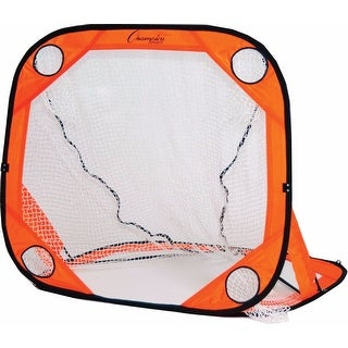 Champion Sports LG44 4' x 4' Lacrosse Target Trainer Goal (Orange)