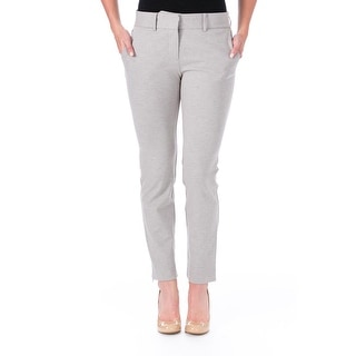 Elizabeth and James Womens Winston Ponte Heathered Trouser Pants - 2