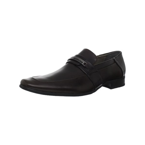 Calvin Klein Mens Brice Loafers Leather Dress - 11 medium (d)
