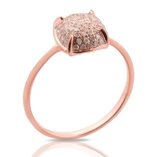 Fabulous 0.24 Carat Round Brilliant Cut Natural Diamond Puffed Dome Cluster Ring