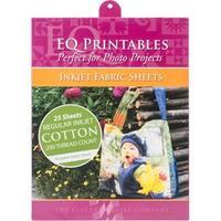 "Inkjet Printable Fabric Sheets 8.5""X11"" 25/Pkg-Warm White"