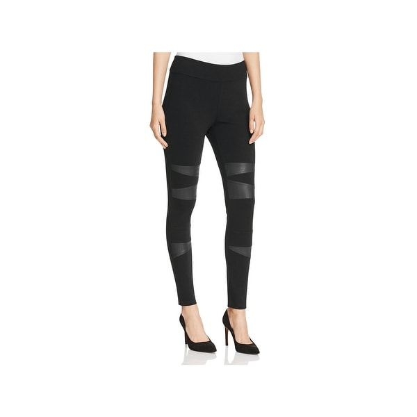 b880d54f442c8 Shop Vince Camuto Womens Leggings Faux Leather Mixed Media - Free ...