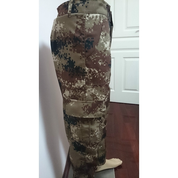 Mens Cargo Combat Work Trousers Army Military Camo Camouflage Casual Pants Size