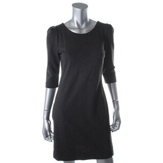 Tegan Womens Heathered Elbow Sleeves Wear to Work Dress - 2