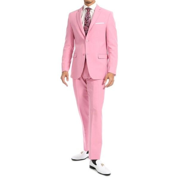 Ferrecci Men's Paul Lorenzo Slim Fit 2 Piece Notch Lapel Suit Set with Blazer Jacket & Dress Pants. Opens flyout.