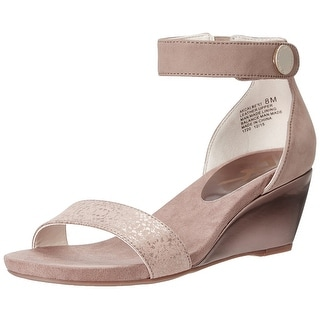 Anne Klein Womens Calbert Leather Open Toe Casual Platform Sandals