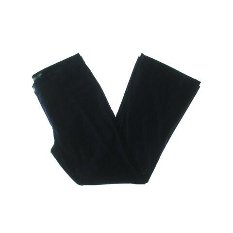 Lauren Ralph Lauren Womens Amias Dress Pants Velvet Flare Leg