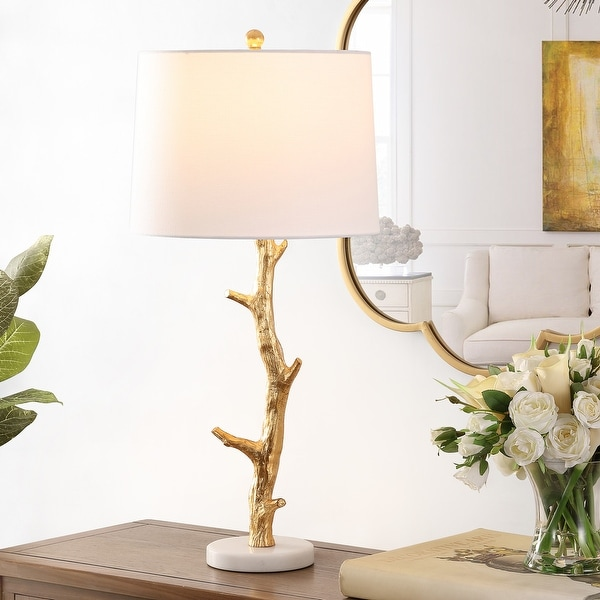 """Safavieh Lighting 29.5-inch Olenna Resin Table Lamp - 14"""" x 14"""" x 29.5"""". Opens flyout."""