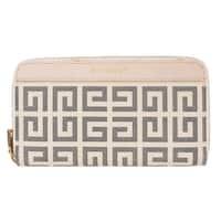 Givenchy Beige Ivory Antigona Long Zip Around Wallet