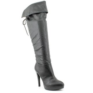 INC International Concepts Parees Women Round Toe Synthetic Black Knee High Boot