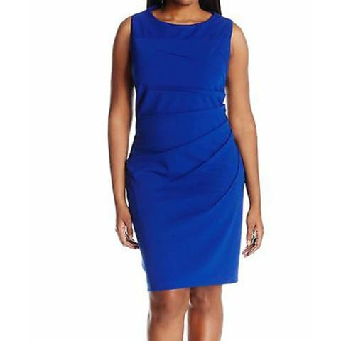Calvin Klein Women's Dress Sleeveless Starburst, Royal Blue, 8