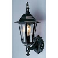 "Volume Lighting V9820 1 Light 15.5"" Height Outdoor Wall Sconce with Clear Bevele"