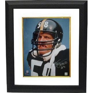 9ef16144f90 Jack Lambert signed Pittsburgh Steelers 16x20 Photo Tooth HOF 90 Custom Framed  Lambert Hologram