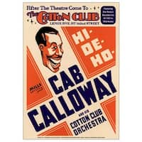 ''Cab Calloway: The Cotton Club NYC, 1931'' by Anon Concert Posters Art Print (24 x 17 in.)