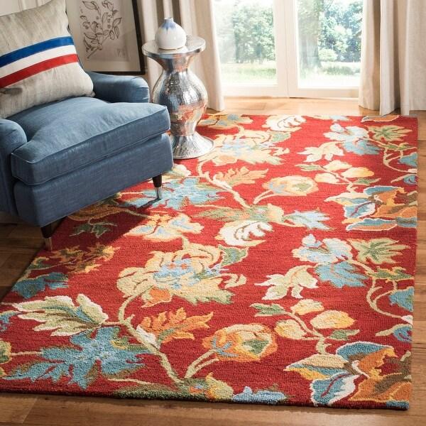Safavieh Handmade Blossom Ula Modern Floral Wool Rug On Sale Overstock 6337154