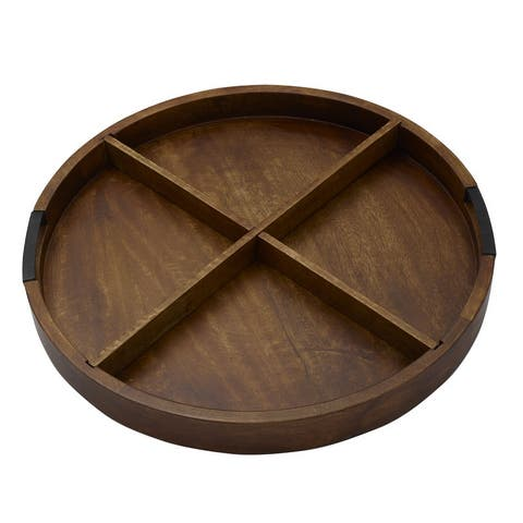 Gourmet Basics by Mikasa Mango Wood Charcuterie Tray with Iron Handles