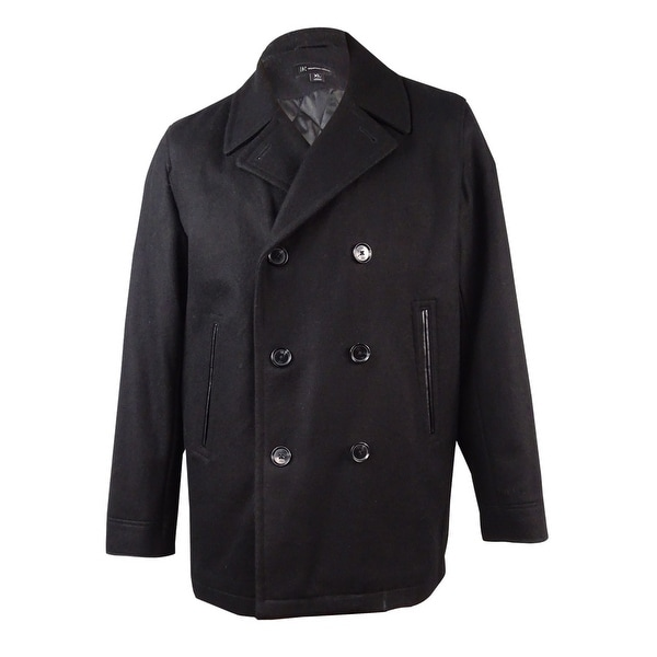 d2d28f252a Shop INC International Concepts Men's Double-Breasted Pea Coat (XL, Black)  - Black - XL - Free Shipping Today - Overstock - 17620795