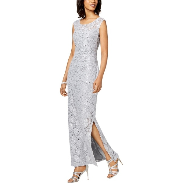 Connected Apparel Womens Evening Dress Sequined Formal