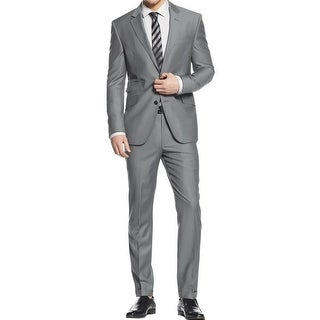 Kenneth Cole New York Mens Pant Suit Wool Slim Fit