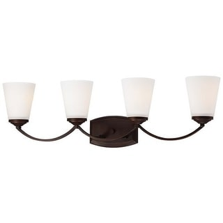 Minka Lavery 6964-284 4 Light Bathroom Vanity Light from the Overland Park Collection