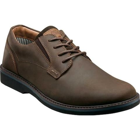 Nunn Bush Men's Barklay Plain Toe Oxford Brown Crazy Horse Leather