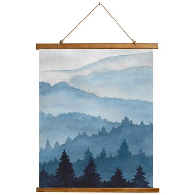 SHADES of MOUNTAINS Scroll Tapestry by Jayne Conte - 26X36