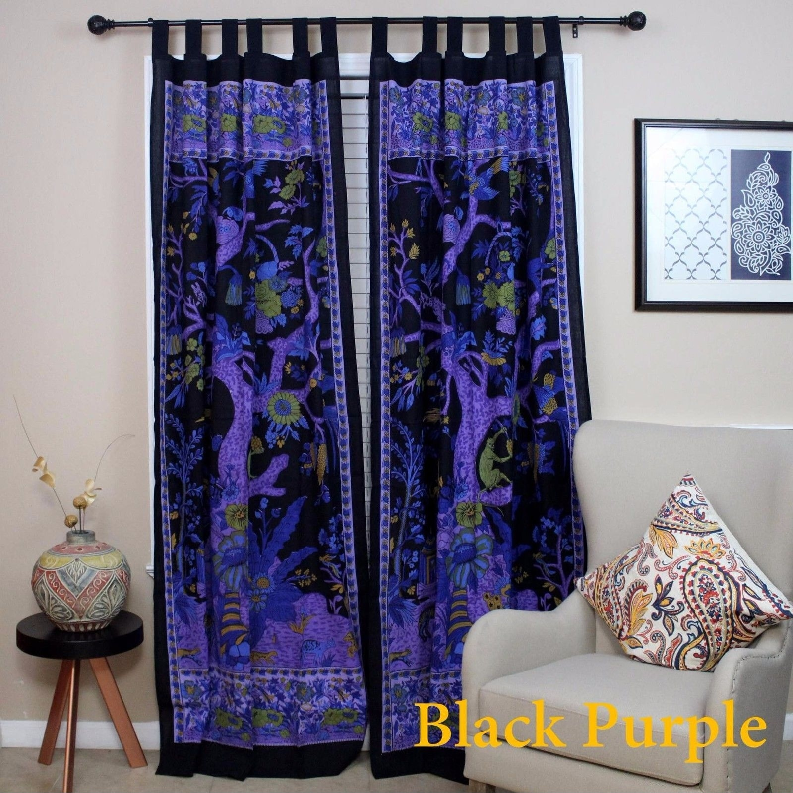 pair window lush purple ruffle decor curtains products com lushdecor panel curtain panels set fox
