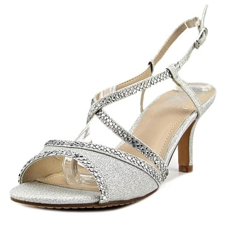 Vince Camuto Valerie Women  Peep-Toe Synthetic Silver Slingback Heel