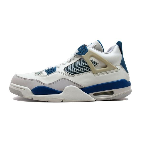 timeless design 3f8fa 1bdfb Nike Men  x27 s Air Jordan IV 4 Retro Off White Military Blue
