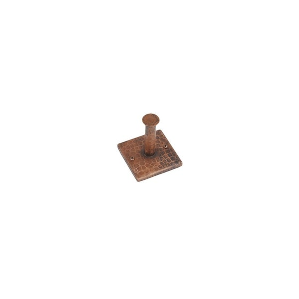 Premier Copper Products RH1 Single Robe Hook Hand Hammered Copper - Oil Rubbed Bronze