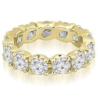 4.25 cttw. 14K Yellow Gold Round Diamond Eternity Ring