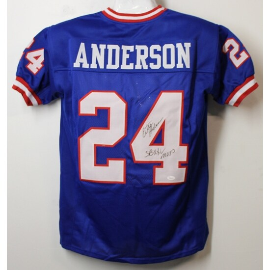 0c53615ade5 Shop Ottis Anderson Autographed New York Giants Size XL Blue Jersey SB XXV  MVP JSA - Free Shipping Today - Overstock - 20362396