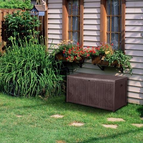 Zenova outdoor storage box prevents fading 113 Gallons