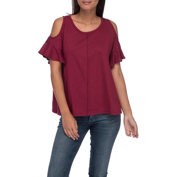 6cf6f6a37c2a0 Shop Bobeau Carlie Cold Shoulder Tee - Free Shipping On Orders Over ...