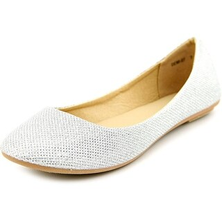 Refresh Demi-07 Women Round Toe Synthetic Silver Flats