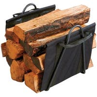 Panacea 15216 Fireplace Log Tote With Stand, Black
