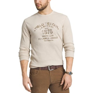 Bass Mens Thermal Shirt Graphic Crew Neck