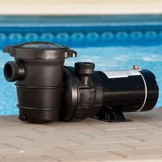 1 HP Self-Priming Above-Ground Swimming Pool and Spa Pump - Black