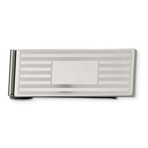 Chisel Srm128 Stainless Steel Brushed & Polished Money Clip
