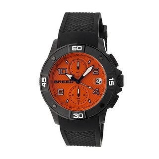 Breed Raylan Men's Quartz Chronograph Watch, Silicone Strap, Luminous Hands