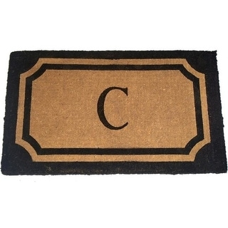Geo Crafts G235-wilk39-blk 24 x 39 in. Imperial Wilkinson Doormat - C Monogram Black