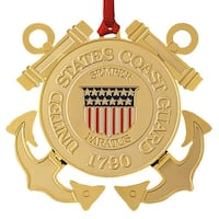 "ChemArt 2.5"" Collectible Keepsakes United States Coast Guard Christmas Ornament - GOLD"
